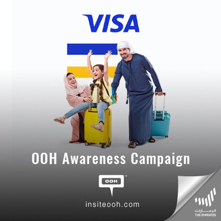 """VISA Climbs on Dubai's Billboards with a Friendly OOH Campaign: """"Meet Visa. A Network Working For Everyone"""""""