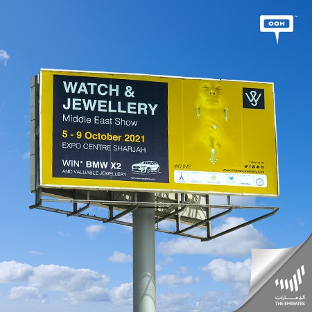 Sharjah gears up to set the 48th Edition of the Watch & Jewellery Middle East Show with a Stunning OOH Campaign