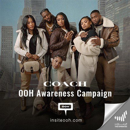 Coach Sets Fall Trends on Dubai's OOH Scene with their Signature Collection!