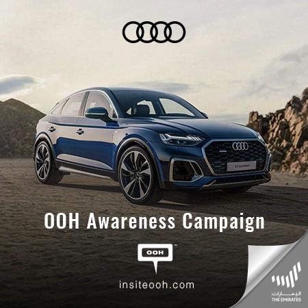 Audi Lands Confidently on Dubai's Billboards, Ready for The Future Memories!