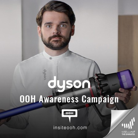 Dyson Guarantees Healthier Homes with the new v11 on Dubai's Billboards